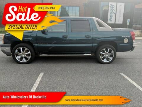 2005 Chevrolet Avalanche for sale at Auto Wholesalers Of Rockville in Rockville MD