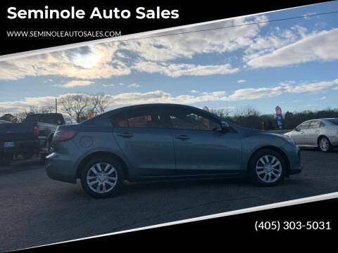 2013 Mazda MAZDA3 for sale at Seminole Auto Sales in Seminole OK