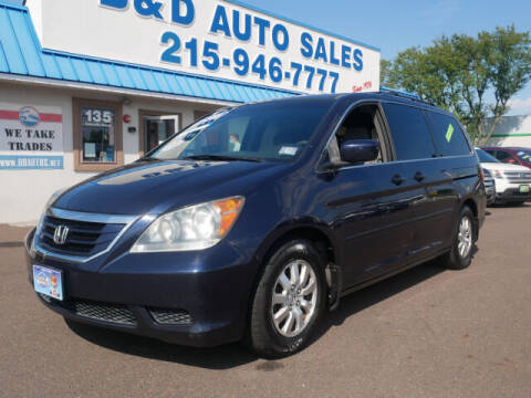 2008 Honda Odyssey for sale at B & D Auto Sales Inc. in Fairless Hills PA