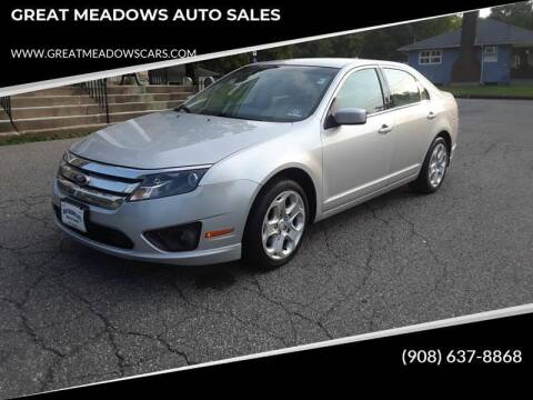 2011 Ford Fusion for sale at GREAT MEADOWS AUTO SALES in Great Meadows NJ