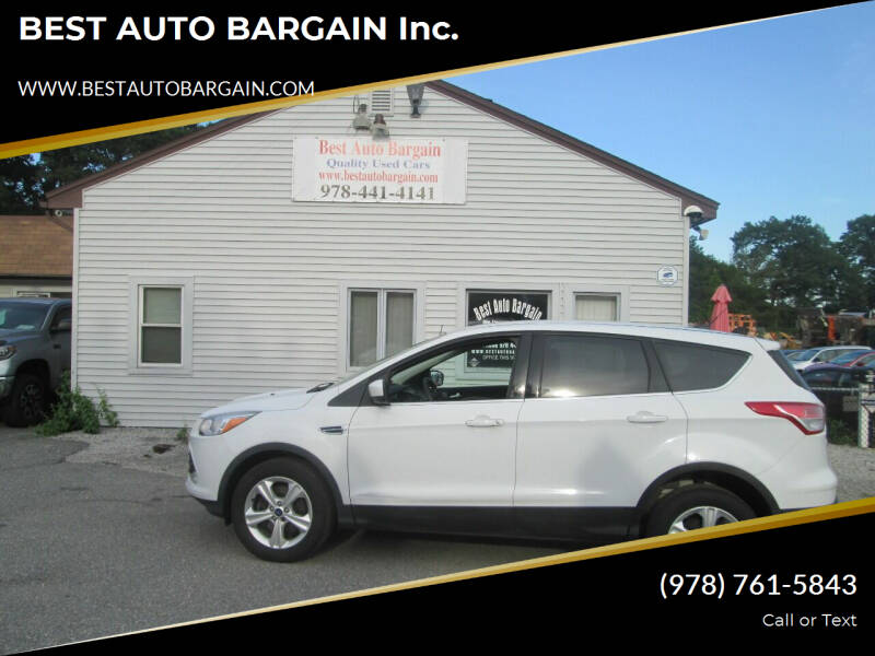 2013 Ford Escape for sale at BEST AUTO BARGAIN inc. in Lowell MA