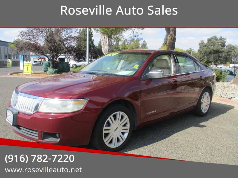 2006 Lincoln Zephyr for sale at Roseville Auto Sales in Roseville CA