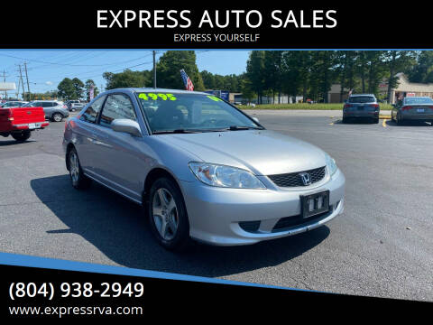 2004 Honda Civic for sale at EXPRESS AUTO SALES in Midlothian VA