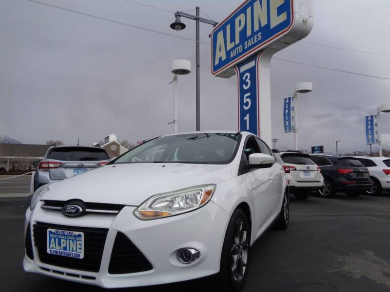 2013 Ford Focus for sale at Alpine Auto Sales in Salt Lake City UT
