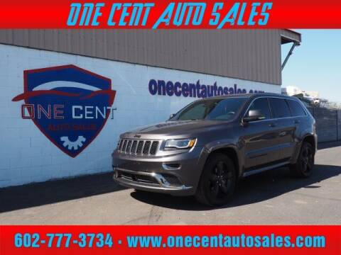 2015 Jeep Grand Cherokee for sale at One Cent Auto Sales in Glendale AZ