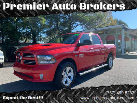 2014 RAM Ram Pickup 1500 for sale at Premier Auto Brokers in Virginia Beach VA