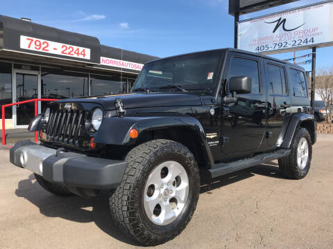 2013 Jeep Wrangler Unlimited for sale at NORRIS AUTO SALES in Oklahoma City OK