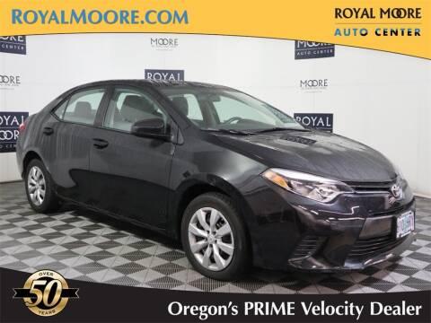 2015 Toyota Corolla for sale at Royal Moore Custom Finance in Hillsboro OR