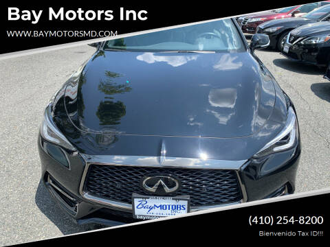 2020 Infiniti Q60 for sale at Bay Motors Inc in Baltimore MD