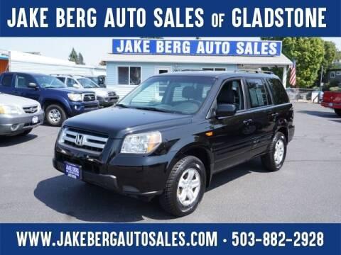 2008 Honda Pilot for sale at Jake Berg Auto Sales in Gladstone OR