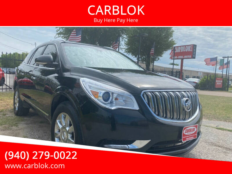 2015 Buick Enclave for sale at CARBLOK in Lewisville TX