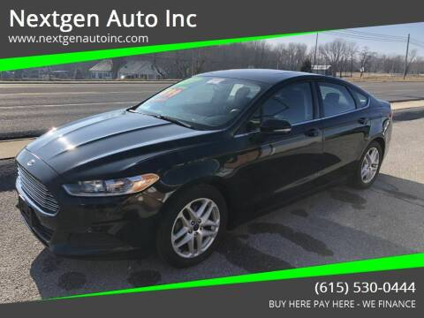 2014 Ford Fusion for sale at Nextgen Auto Inc in Smithville TN