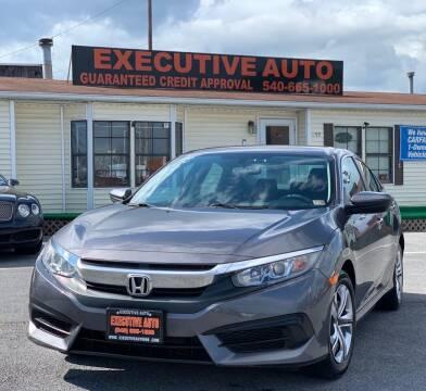 2016 Honda Civic for sale at Executive Auto in Winchester VA
