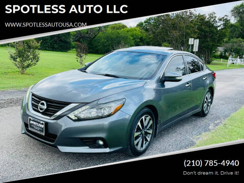 2016 Nissan Altima for sale at SPOTLESS AUTO LLC in San Antonio TX