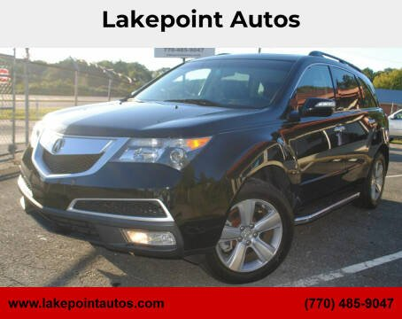 2013 Acura MDX for sale at Lakepoint Autos in Cartersville GA