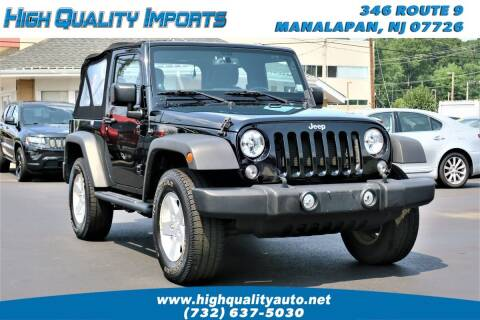 2014 Jeep Wrangler for sale at High Quality Imports in Manalapan NJ