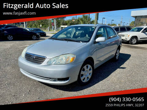 2006 Toyota Corolla for sale at Fitzgerald Auto Sales in Jacksonville FL