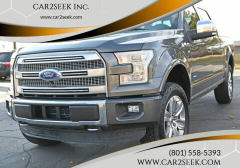 2015 Ford F-150 for sale at CAR2SEEK Inc. in Salt Lake City UT