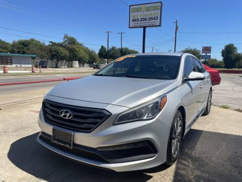 2015 Hyundai Sonata for sale at Shock Motors in Garland TX