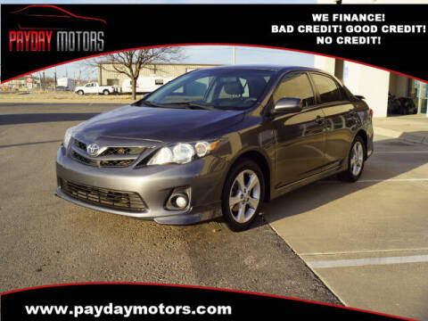 2013 Toyota Corolla for sale at Payday Motors in Wichita And Topeka KS