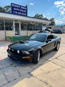 2008 Ford Mustang for sale at Right Away Auto Sales in Colorado Springs CO