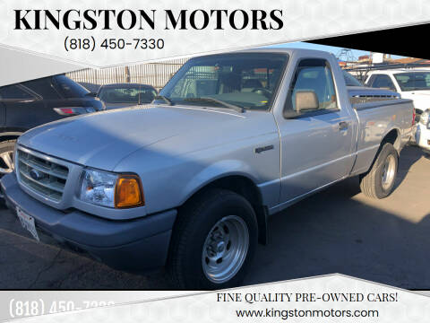 2002 Ford Ranger for sale at Kingston Motors in North Hollywood CA