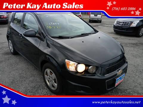 2015 Chevrolet Sonic for sale at Peter Kay Auto Sales in Alden NY