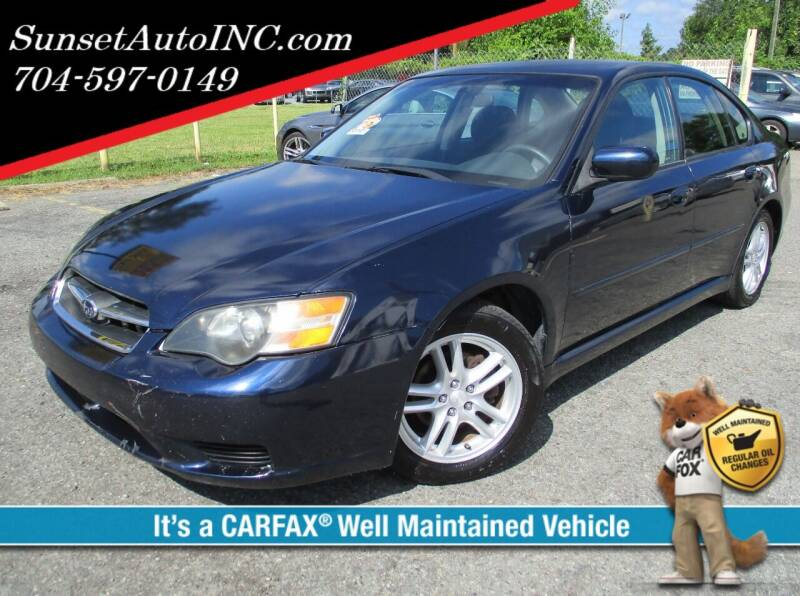 2005 Subaru Legacy for sale at Sunset Auto in Charlotte NC