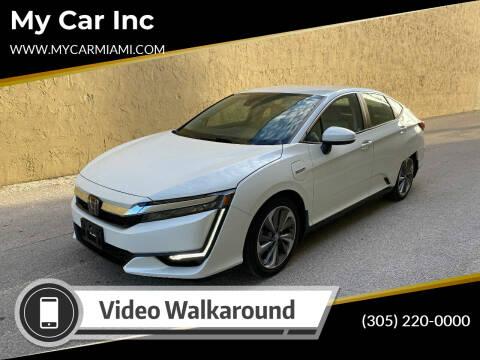 2018 Honda Clarity Plug-In Hybrid for sale at My Car Inc in Pls. Call 305-220-0000 FL