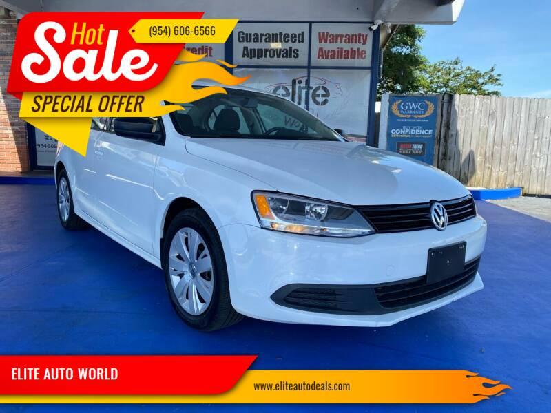 2014 Volkswagen Jetta for sale at ELITE AUTO WORLD in Fort Lauderdale FL