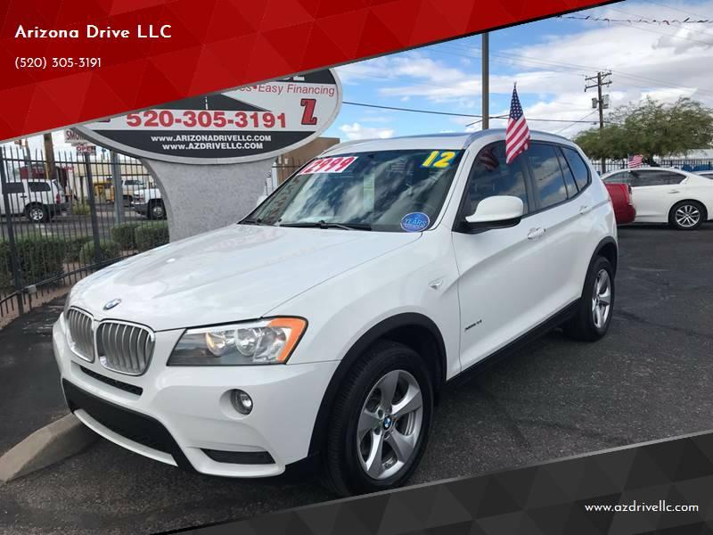 2012 BMW X3 for sale at Arizona Drive LLC in Tucson AZ