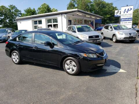 2013 Honda Civic for sale at Highlands Auto Gallery in Braintree MA