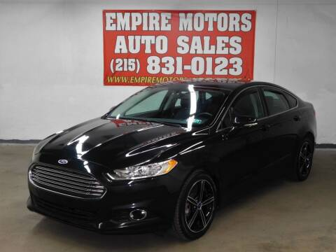 2014 Ford Fusion for sale at EMPIRE MOTORS AUTO SALES in Philadelphia PA