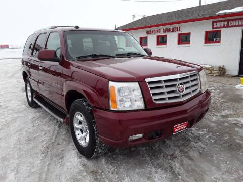 2004 Cadillac Escalade for sale at Sarpy County Motors in Springfield NE