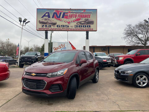 2017 Chevrolet Trax for sale at ANF AUTO FINANCE in Houston TX