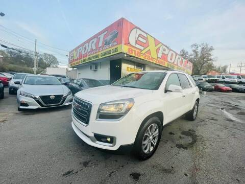 2015 GMC Acadia for sale at EXPORT AUTO SALES, INC. in Nashville TN