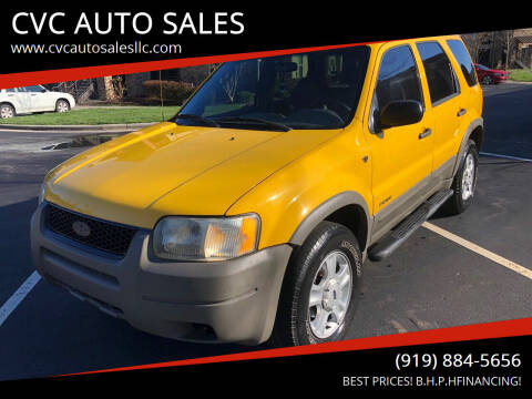 2001 Ford Escape for sale at CVC AUTO SALES in Durham NC
