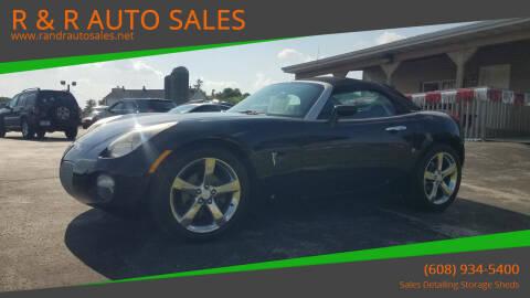 2007 Pontiac Solstice for sale at R & R AUTO SALES in Juda WI