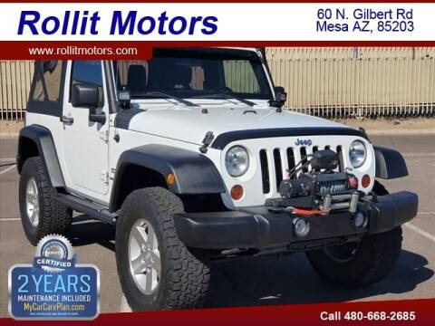 2012 Jeep Wrangler for sale at Rollit Motors in Mesa AZ