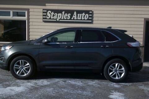 2018 Ford Edge for sale at STAPLES AUTO SALES in Staples MN