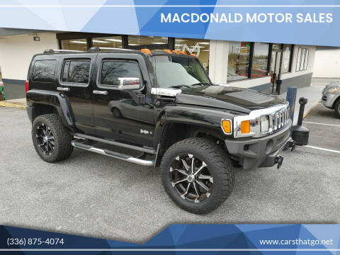 2006 HUMMER H3 for sale at MacDonald Motor Sales in High Point NC