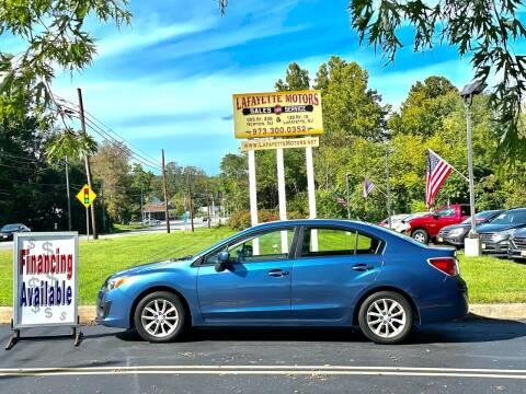 2014 Subaru Impreza for sale at Lafayette Motors 2 in Andover NJ