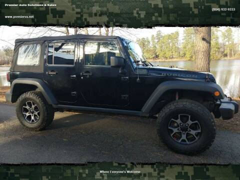 2009 Jeep Wrangler Unlimited for sale at Premier Auto Solutions & Sales in Quinton VA