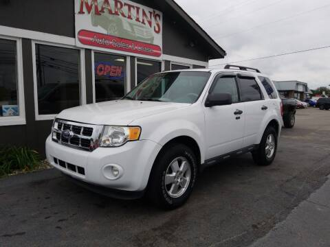 2011 Ford Escape for sale at Martins Auto Sales in Shelbyville KY