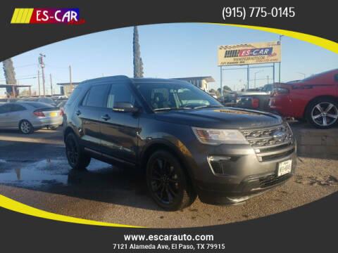 2019 Ford Explorer for sale at Escar Auto in El Paso TX