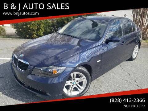 2008 BMW 3 Series for sale at B & J AUTO SALES in Morganton NC