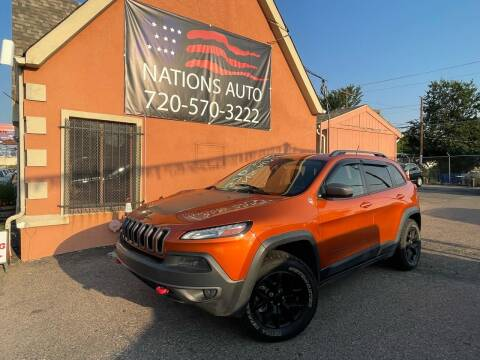 2014 Jeep Cherokee for sale at Nations Auto Inc. II in Denver CO
