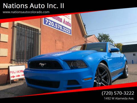 2013 Ford Mustang for sale at Nations Auto Inc. II in Denver CO