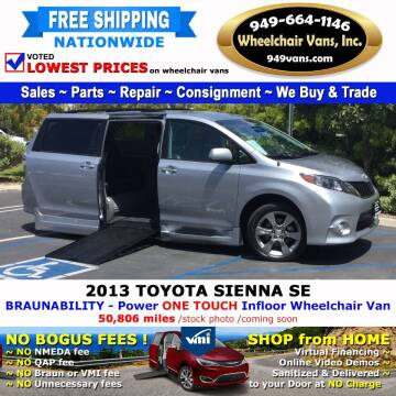 2013 Toyota Sienna for sale at Wheelchair Vans Inc - New and Used in Laguna Hills CA