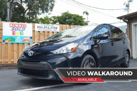 2016 Toyota Prius v for sale at ALWAYSSOLD123 INC in Fort Lauderdale FL